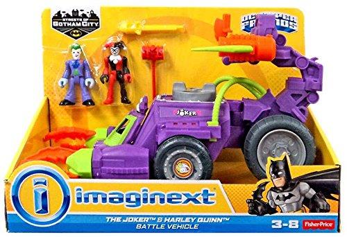 Fisher Price DC Imaginext The Joker & Harley Quinn Battle Vehicle