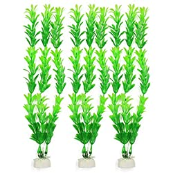 Uxcell 3-Piece Artificial Fish Tank Rotala Rotundifolia Plant Set, Green