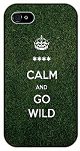 iPhone 4 / 4S Keep calm and go wild - black plastic case / Keep calm