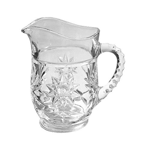Anchor Hocking Prescut Clear Glass ( 16 Oz Pint Pitcher ) Clear Pressed Glass Creamer