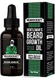 Beard Oil for Men - USA-Made Formula - Natural Unscented Beard Growth Oil for Fuller and Thicker Beard - Best Organic Mustache Conditioner Softener
