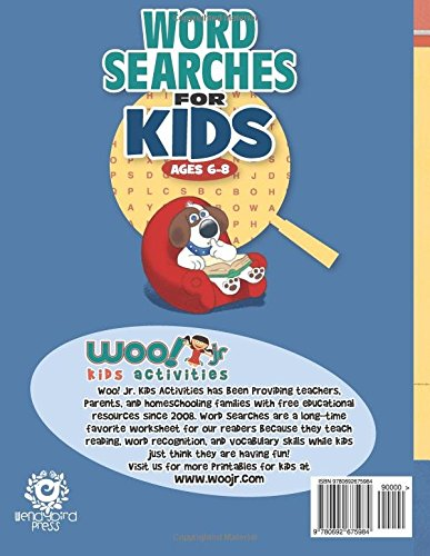 Word Search for Kids Ages 6-8: Reproducible Worksheets for ...