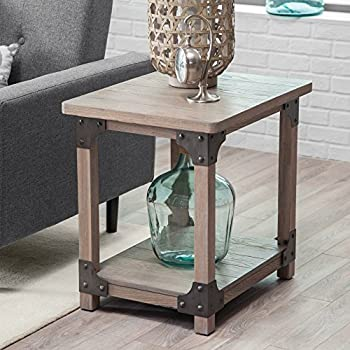 Amazon Com Belham Living Jamestown Rustic End Table Kitchen Amp Dining