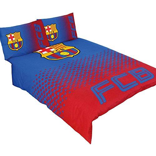 FC Barcelona Official Fade Reversible Football/Soccer Crest Double Duvet Set (Full) (Blue/Red)