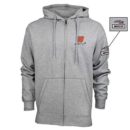 NASCAR Joe Gibbs Racing Martin Truex Jr. Mens M Benchmark FZ HoodM Benchmark FZ Hood, Premium Heather, 2X ()