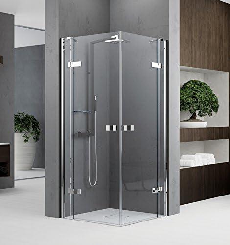 Mampara de ducha Gala a acceso de ángulo de cristal transparente ...
