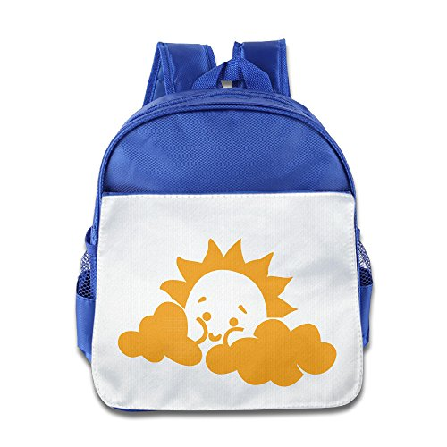 Discovery Wild Child Toddler Kids Backpack School Bag, Cute Sun - RoyalBlue
