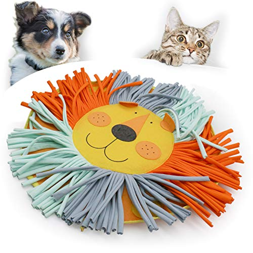 coonoe Pet Snuffle Mat for Dog Cat Feeding, Durable Interactive Pet Toys Encourages Natural Foraging Skills, Cotton Fabric Strips are Healthy for Pets, 20