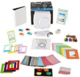 Fujifilm Instax Mini 9 or Mini 8/ 8+ Instant Camera Accessories, 14 Piece Kit Includes White Case, Fujifilm Albums, Filters, Selfie lens, Magnet Frames, Hanging + Creative Frames, stickers +Gift Box