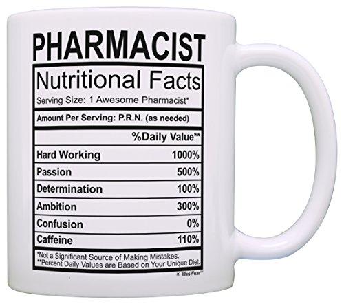 Pharmacist Gifts for Women Pharmacist Nutritional Facts Pharmacist Graduation Gifts Pharmacist Gift Ideas Gift Coffee Mug Tea Cup White