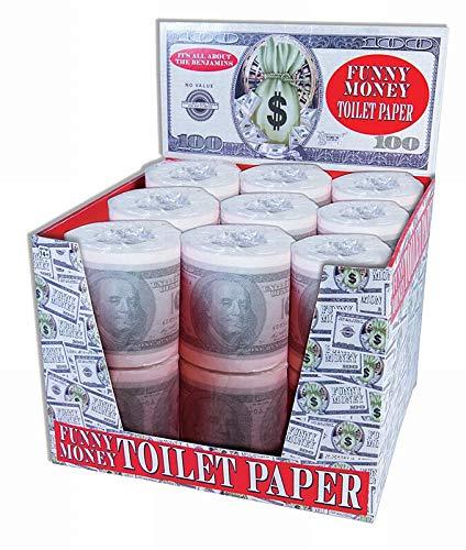 Money Toilet Paper Roll Bathroom Tissue Novelty 100 Dollar Bill -