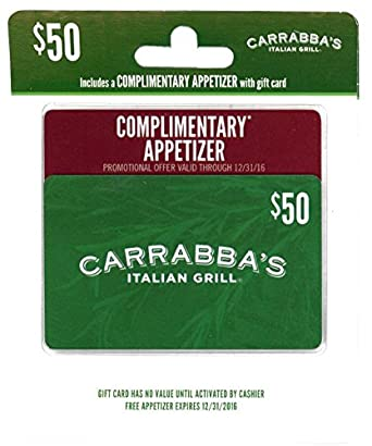 photo relating to Carrabba's Printable Menu titled : Carrabbas Italian Grill Present Card $50 with Totally free