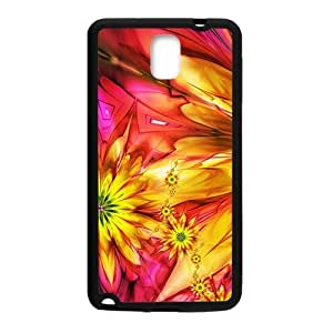 Bright Flowers Black Phone For Iphone 5/5S Case Cover