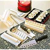 kit de 10 pièces en plastique à Sushi japonais Porphyrilic outils de bricolage gâteau Moule pour riz à sushis-Combinaison Multi-usage