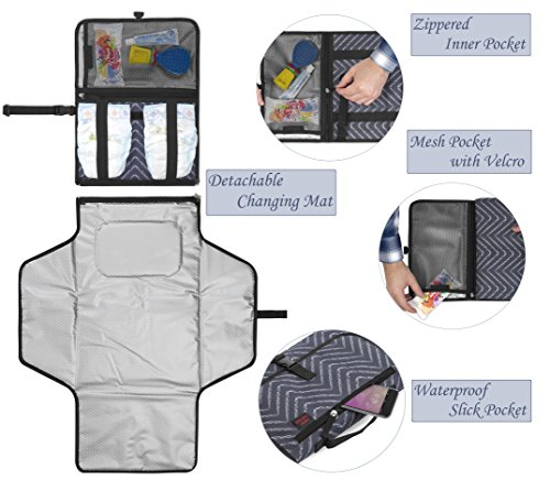 036b2ba76a18 Crystal Baby Smile Portable Changing Pad - Diaper Clutch - - Import It ...