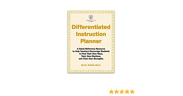 Amazon Differentiated Instruction Planner Ebook Dr Debbie