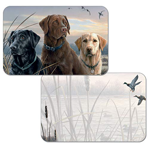 Counterart Set of 4 Reversible Wipe-Clean Decofoam Placemats -Hunting Dogs