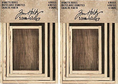 Tim Holtz Idea-Ology Wooden Vignette Boxes Sets - Bundle of Two