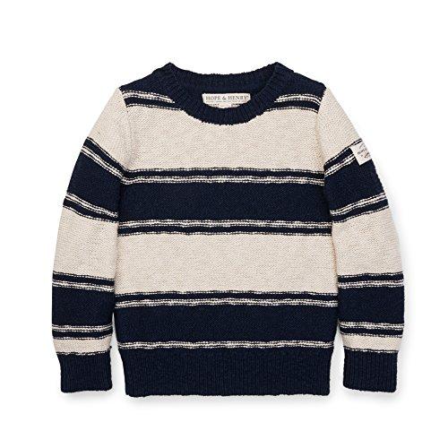 rew Oatmeal/Navy Neck Sweater Stripe Size 6-12 Months (Hope Kids Sweatshirt)