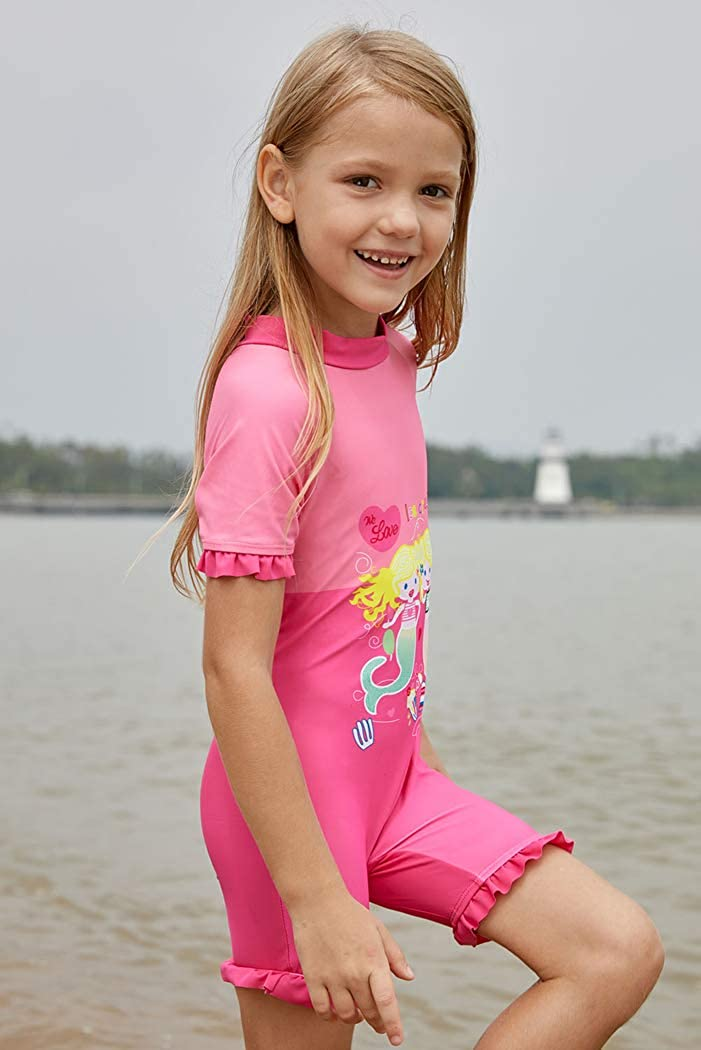 YIHUAN Girls Little Mermaid Princess Cute Swimsuit 4-8 Years