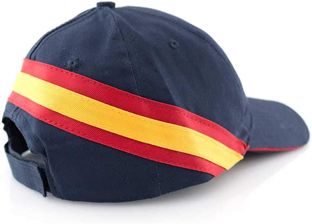 GORRA AZUL MARINO BANDERA DE ESPAÑA REGULABLE PADEL GOLF: Amazon ...