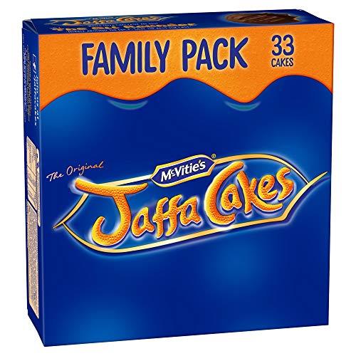 Original McVitie's Jaffa Cakes Big Pack Imported From The UK England The Very Best Original British Jaffa Cakes A Genoise Sponge Base Layer Of Orange Flavored Jam Coating Of SpongeMc Vities Jaffa Cak (Jaffa Christmas Cakes)