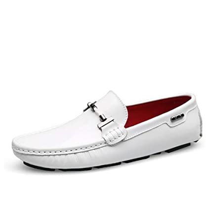 Hy Mens Casual Shoes,Leather Spring Flat Loafers Fashion Slip On Driving Shoes Business Shoes Office /& Career,Black,43