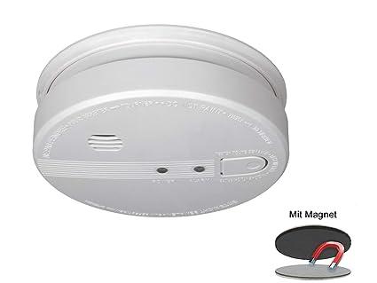 Detector de Humo con conexión de 230 V y batería de Reserva, Alarma de 85