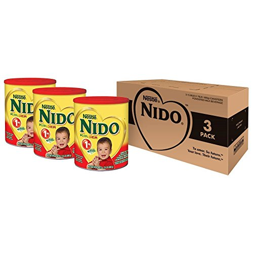 Nido Kinder 1+ Powdered Milk Beverage, 1.76 Pound, 3 Count (Best Formula Milk For 1 Year Old Baby)