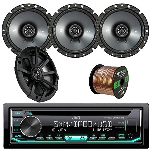JVC KDR690S Car CD Player Receiver USB AUX Radio - Bundle Combo With 2 x Kicker 43CSC674 6-3/4