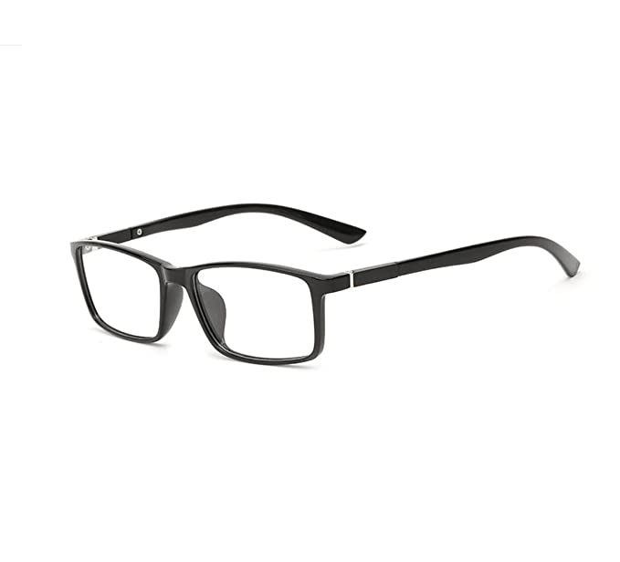 67cce32e9615 Unisex(Womens Mens) Bright Black Retro Optical Frame GRAFIT Classic Fashion  Glasses Frame Clear Lens Glasses TR90 Material  Amazon.co.uk  Clothing