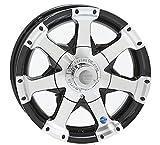 15x6 Black Series 6 Aluminum Trailer Wheel 6 on 5.50, 2830 lb Capacity