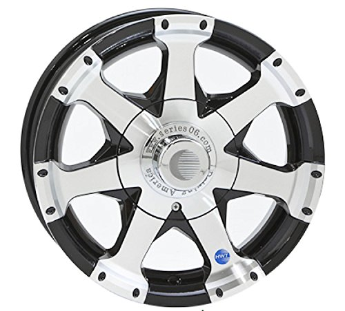 15x6 Black Series 6 Aluminum Trailer Wheel 5 on 4.50, 2150 lb Capacity