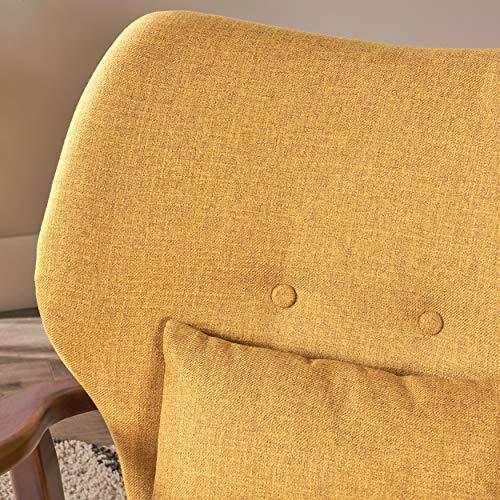 Christopher Knight Home 304780 Ventura Mid Century Modern Fabric Club Chair, Mustard - 4