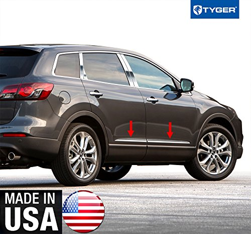 Tyger Auto Made In USA! TYGER Mazda Rocker Panel Trim Works With 07-2015 CX-9 Lower Accent 1'' Wide 4PC -  RP-MA038