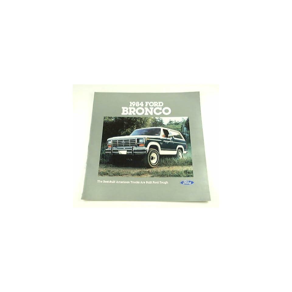 1984 84 Ford BRONCO Truck BROCHURE XLT Standard 4wd
