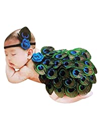 Evelin LEE Photography Baby Cute Peacock Wing Crochet Costume Headband Cloak