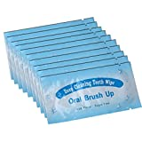 AZDENT Textured Finger Teeth Wipes Brush Ups Dental Clean Pre/Post Whitening (Pack of 50)