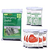 Emergency Foil Mylar Thermal Blanket (Pack of 8), Aluminum Blanket Foil Space Blanket: Designed for NASA – Perfect for Hiking, Survival, Marathons or First Aid (1 Tent+2 Sleep bags+5 Blankets)