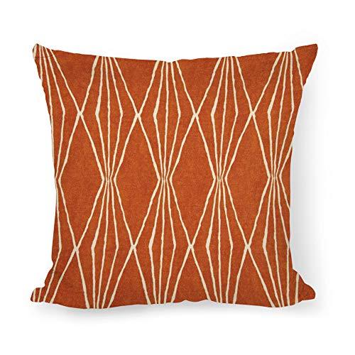 Burnt Orange Pillow Cover Decorator Pillow Cover Home Decor Pillow Rust Diamonds Cushion Cushion Pillow Case ()