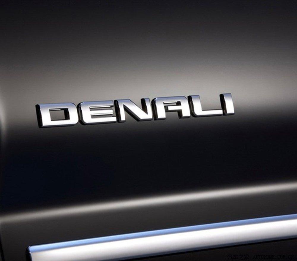 2pcs Matte Black Aimoll Denali Nameplate Emblems Badge Replacement for Gm 07-16 Yukon Sierra Terrain