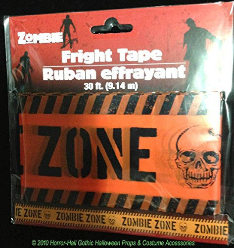 Zombie Fester (Walking Dead Warning-ZOMBIE ZONE-Fright Caution Tape Halloween Party Prop)