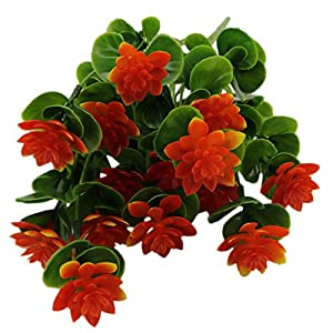 MonkeyJack Springs Flowers Artificial Silk Valentine bouquets Wedding Home Decoration,Pack of 1 Orange-red 37