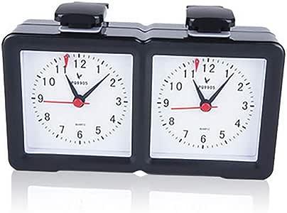Jinzsnk Reloj de Ajedrez Suministros Multifuncional Reloj de ajedrez IR Ajedrez Ajedrez Ajedrez Juego de ajedrez de Ajedrez Juego de Mesa (Color : Black, Size : 200x51x108mm)