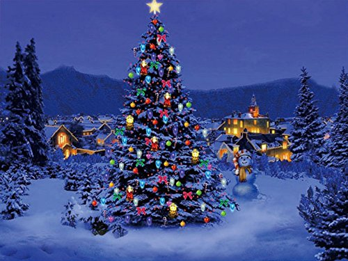 Christmas Town - Lighted LED Canvas Wall Art 12