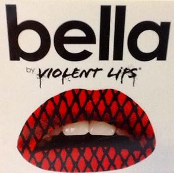 Amazoncom Bella By Violent Lips Temporary Lip Appliqués Red
