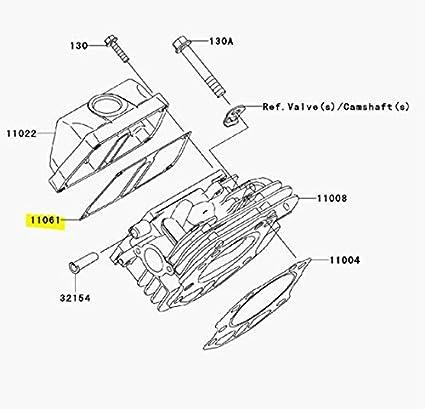 Amazon Com Kawasaki Oem Valve Cover Gasket Mule 600610 Kaf400