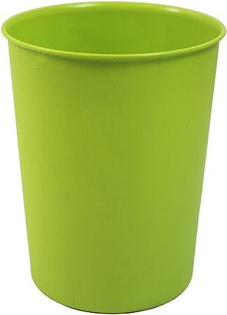 JVL Corbeille à Papier Poubelle en Plastique Noire Légère Qualité