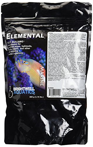 Brightwell Aquatics ABAELEM800 Elemental Dry Salt Water Conditioners for Aquarium, 1.76-Pound