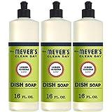 Mrs. Meyer's Clean Day Liquid Dish Soap, Lemon Verbena, 16 ounce bottle (3 count)